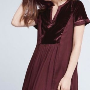 Anthropologie Maeve Ingrid Velvet Tunic Dress